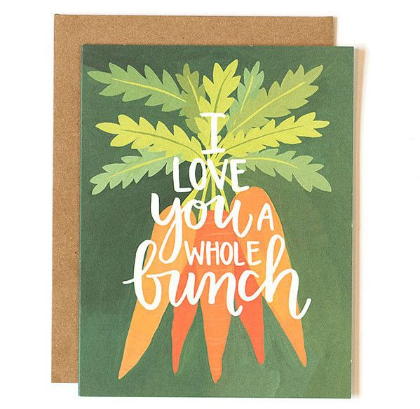 Another pun for your hun! Inspired by a love of gardening, this hand-painted card gives traditional love notes a unique spin! Printed locally in the Midwest, USA. :: Blank inside :: A2 size (4.25x5.5