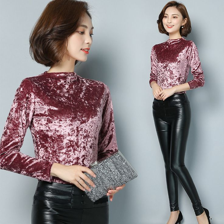 Cheap blouse winter, Buy Quality blouse floral directly from China blouse sequins Suppliers: Fashion Winter Spring Tops 2017 Women Warm Velvet Blouse Velour Sweatshirt Long Sleeve Ladies Shirt M-3XL Plus Size Six Color
