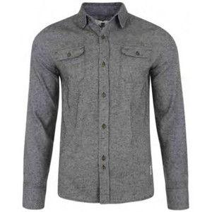 Bellfield Men's Huxley Grey Shirt Long s  EUR 28.00