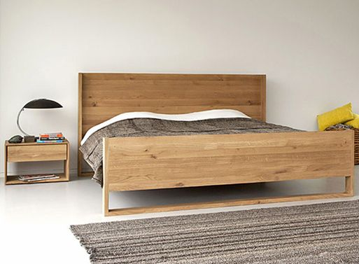Simple, versatile, classy Oak Nordic Bed.