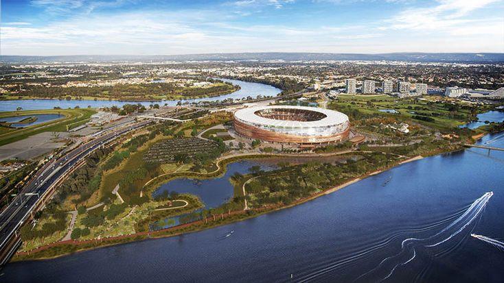 winning design for new perth stadium wraps facade in bronze