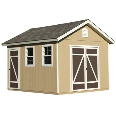 Heartland Hillsdale 10-ft x 12-ft Gable Engineered Wood Storage Shed