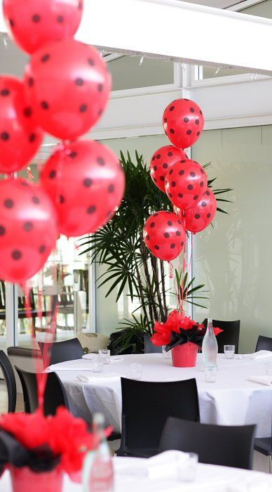 Ladybug Baby Shower Decorations | Ladybug Baby Shower Table Ideas Photograph | Ladybug Party T