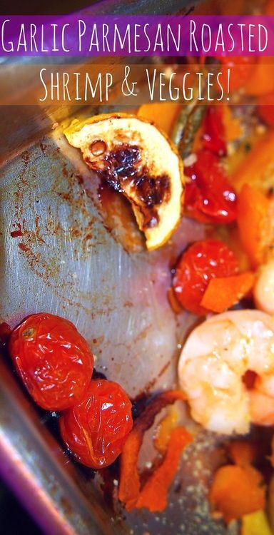 Undressed Skeleton — 72 Calorie Garlic Parmesan Roasted Shrimp & Veggie Bake!