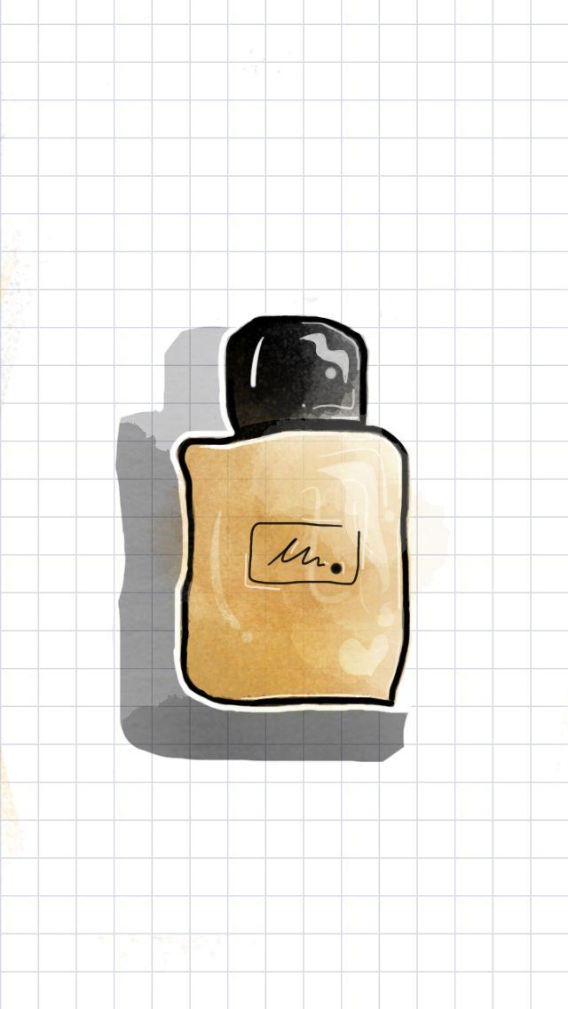Brown, cologne, watercolor, parfume, chocolate, watercolor ideas, tayasui sketches