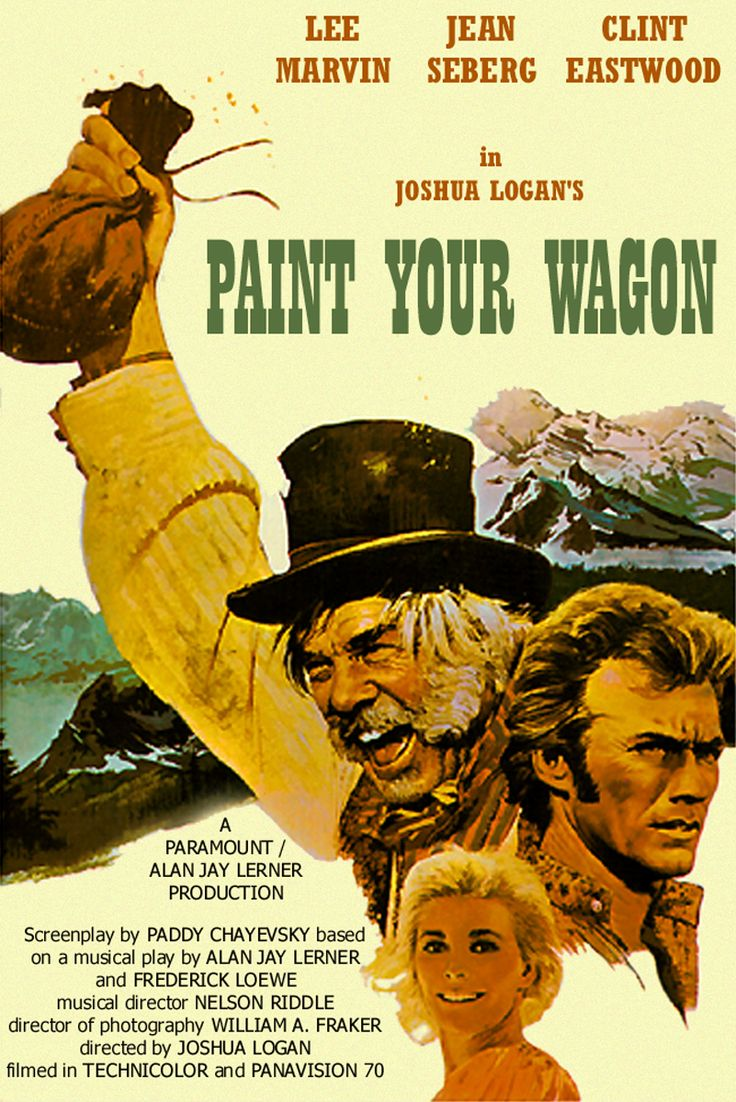 Paint Your Wagon (1969) lee #marvin clint #eastwood #western  Did you know that Clint sang in this one? He sure did!