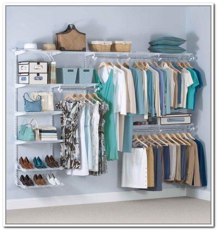 Diy Bedroom Clothing Storage Ideas Rubbermaid Closet Organizer Simple Closet Closet Kits