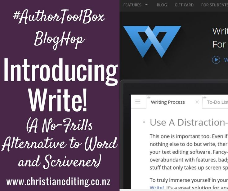 Introducing Write! (An #AuthorToolBoxBlogHop post)