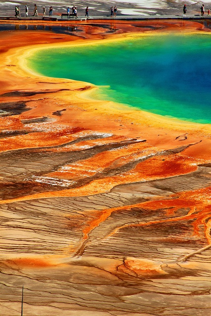 Geyser - Yellowstone, looks nothing like this when you are there, it's too grand
