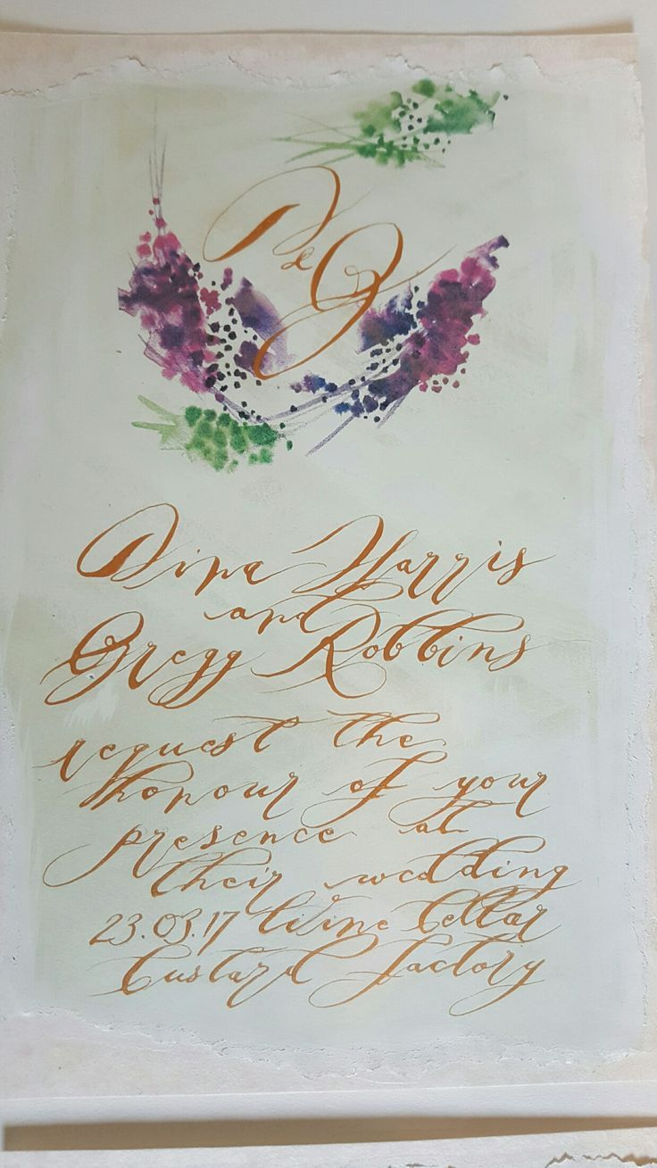 invitation letter for judging an event%0A Watercolour wedding invitation monogram card with gold calligraphy  torn  and u