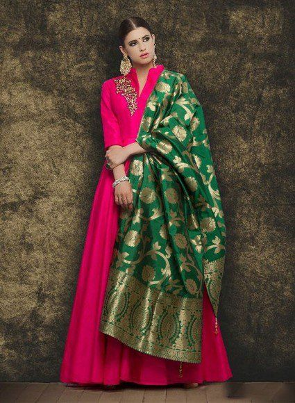 1ee690c46f How To Style Banarasi Dupatta For A Classic Look | Indian Dresses in ...
