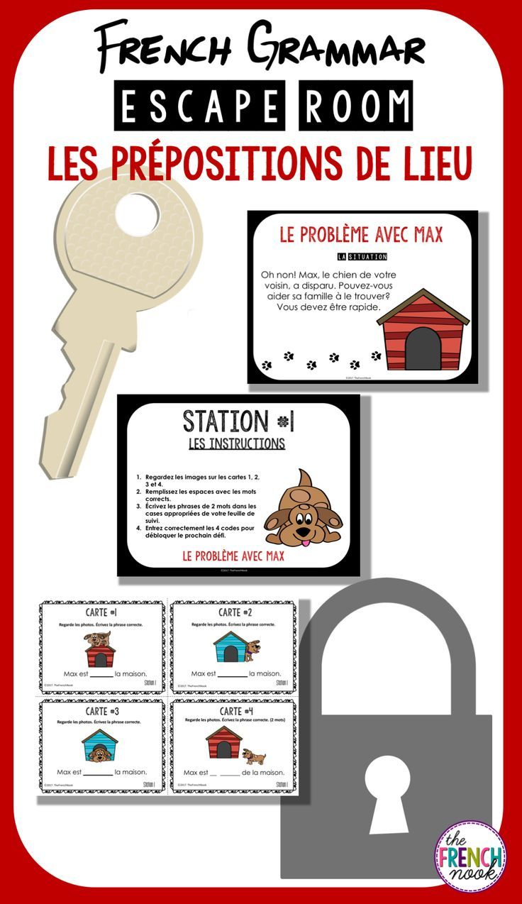 Les prépositions de lieu - French Grammar Escape Room