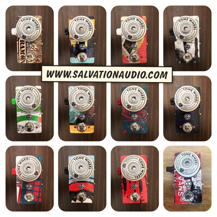 ToneWheel Boost pedals by Salvation Audio (www.salvationaudio.com) made of skateboard parts. Users: Smashing Pumpkins, Guns 'N Roses, The Dead Daisises etc...   #SalvationToneWheel #ToneWheel #Booster #SalvationMods #Skateboard #recycled #skateboards #GuitarPedal