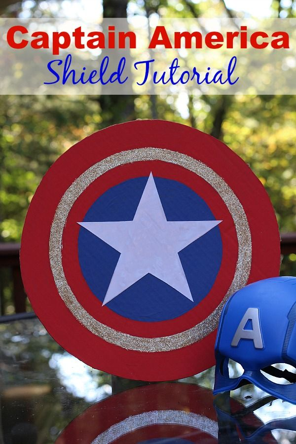 Bring the superhero fun home with this easy to make Captain America shield! #AvengersUnite AD
