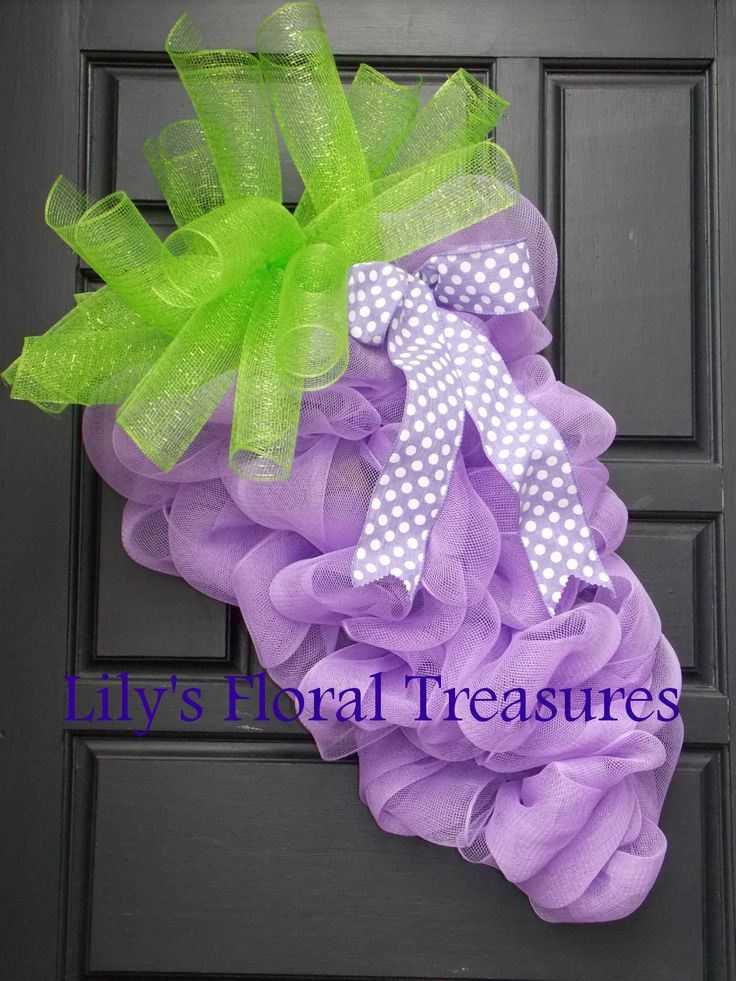 Purple Carrot Wreath for Easter!  (image only)