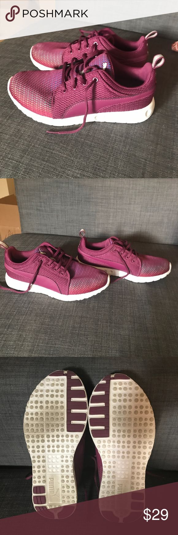Purple Puma Cross Training Running Shoes Size 8 New Women's Puma Running Shoes + Cross Trainers. Soft form comfort insert. Size 8 and fits true to size. Excellent Condition. Only worn a few times! Puma Shoes Athletic Shoes