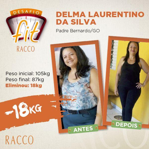 """Só tem gente determinada nesse Desafio Fit Racco! Uma delas é a Delma, de Goiás, que perdeu 18kg com muita disciplina e perseverança. Seu tratamento com a Racco durou aproximadamente 1 ano e sua rotina se baseava em uma alimentação saudável, ingestão de, no mínimo, 2 litros de água e atividade física diária.     """"A linha Life Racco fez todo diferencial em meu tratamento, acelerou meu metabolismo e me deu energia e disposição para seguir com o emagrecimento"""" – conta ela que teve como…"""