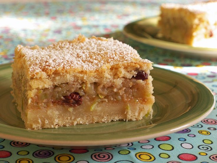 Almás Pite; Hungarian Apple Cake _ My grandmother made this apple cake which is quite popular in Hungary. It reminds me a bit of apple pie in that the filling is in the middle and the pastry is a sweetened version of the classic shortcrust pastry.