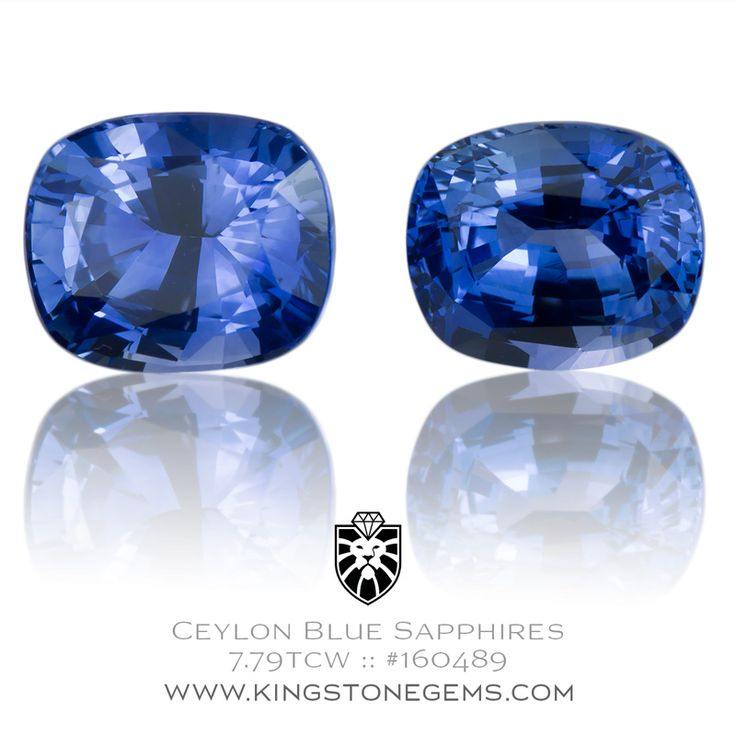 Ceylon Cornflower Blue Sapphires 7.79ct - 9.78X8.21X5.8mm - SKU# 160489 - Looking for sapphires? Visit our website and discover our collection of gemstones.
