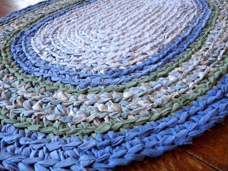 Crocheted Rag Rug Google Search Crafts Rugs Fabric