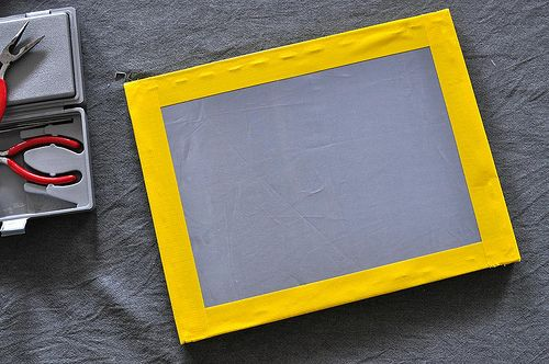 Make your own screen for screen printing