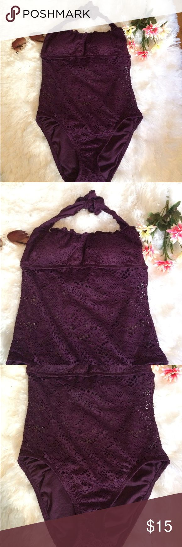 🌸NWT Purple One Piece Crochet Bathing Suit🌸 🛍New with tags bathing suit. The top has slight padding. 🛍 Mossimo Supply Co. Swim One Pieces