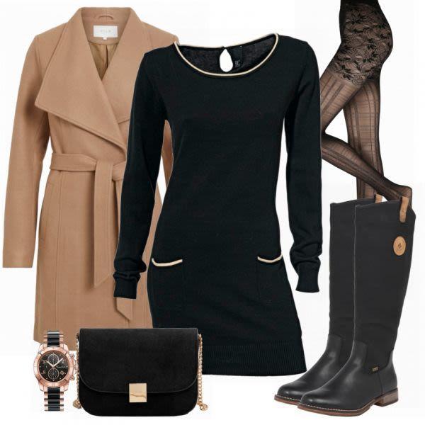 Heine Strickkleid Damen Outfit Komplettes Herbst Outfit