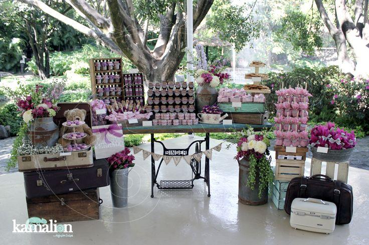 Mesa de dulces candy bar postres boda wedding palo de rosa - Mesas de pale ...