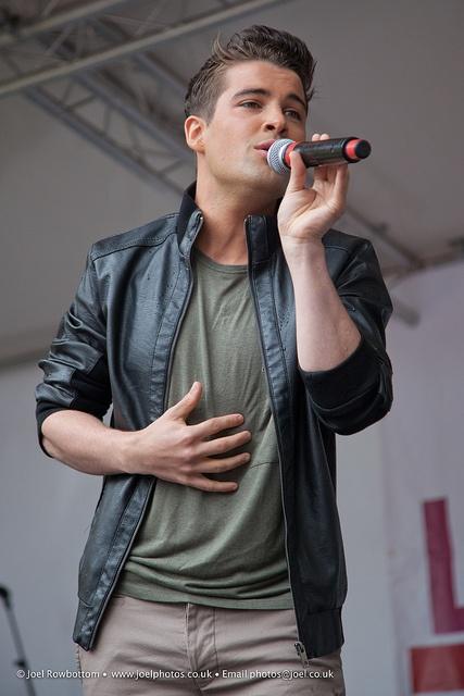 Joe McElderry at Leeds Pride (3). 5/8/12. Thanks Joel Rowbottom.