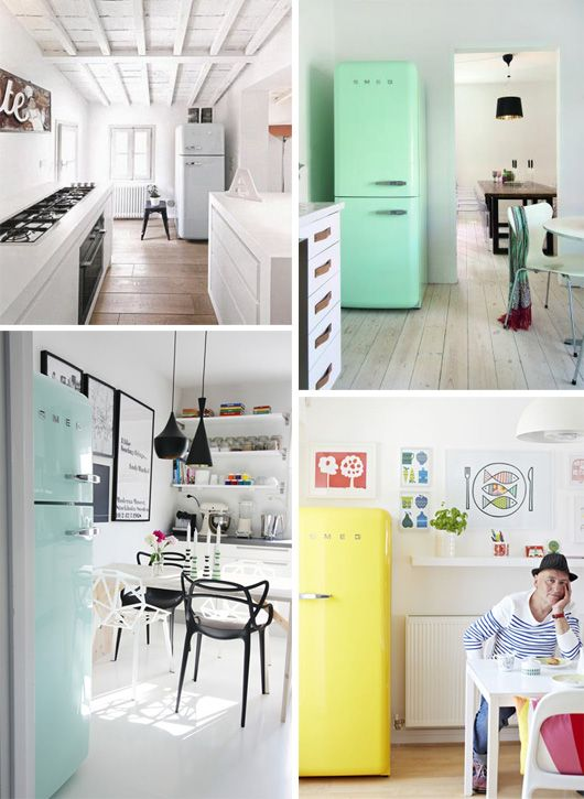 Crushing On Smeg Refrigerators Yellow and mint ones are nice to over at Decor 8 blog I'm obsessed with these oh my gosh