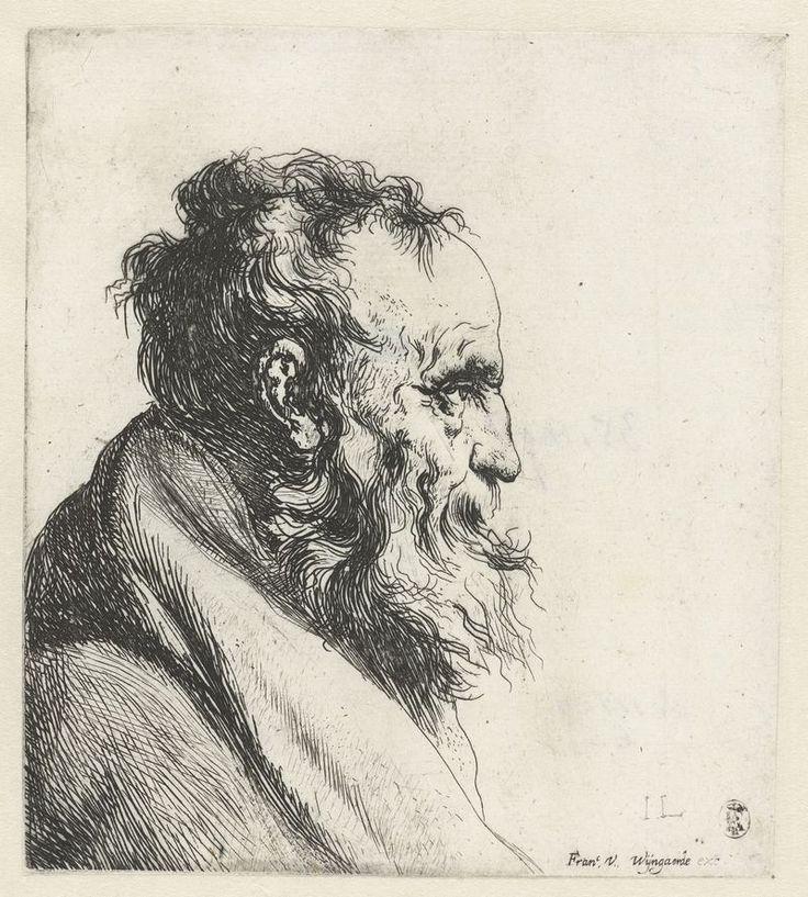 Borstbeeld van een oude man met baard