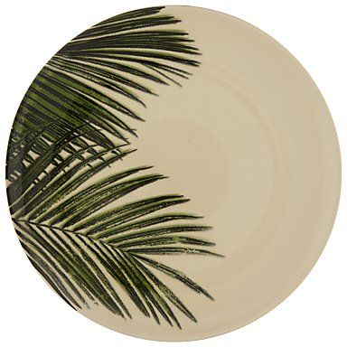 Pin for Later: 19 Palm-Print Items That'll Turn Your Home Into a Tropical Paradise John Lewis La Selva Palm Dinner Plate John Lewis La Selva Palm Dinner Plate (£8)