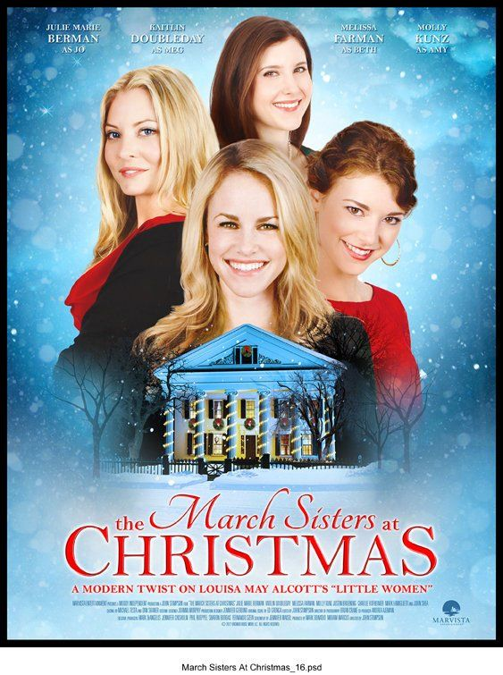 The March Sisters at Christmas, Lifetime, 2012, Julie Marie Berman, Mark Famiglietti.  Love.