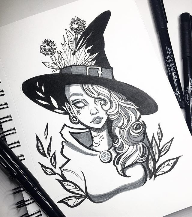 Line Drawing Of Witches Face : Best witchy illustrations images on pinterest