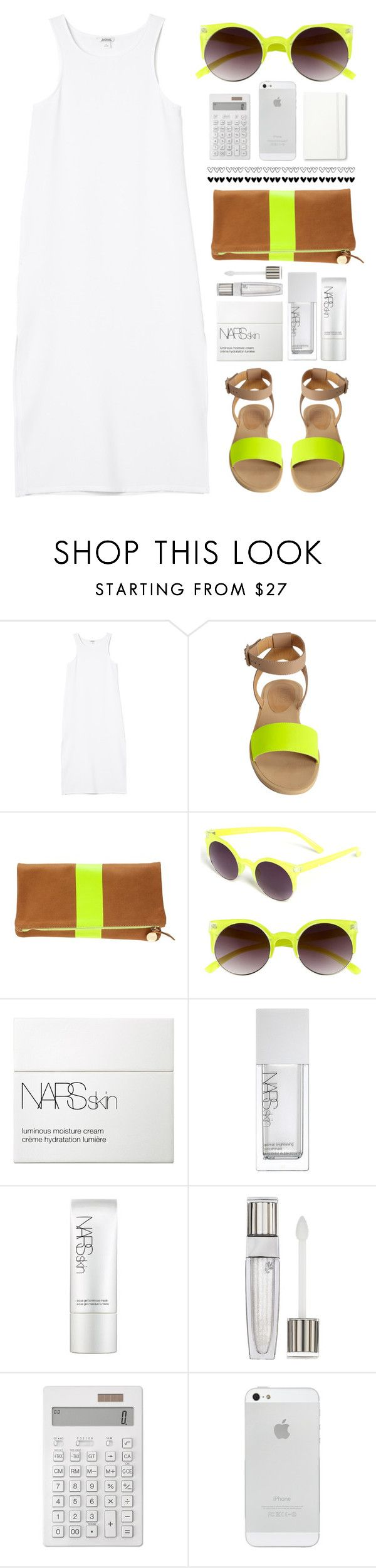 """""""GET READY FOR SPRING / SUMMER...."""" by erino9519 ❤ liked on Polyvore featuring Monki, MM6 Maison Margiela, Clare V., Quay, NARS Cosmetics, Lancôme, Muji and Moleskine"""