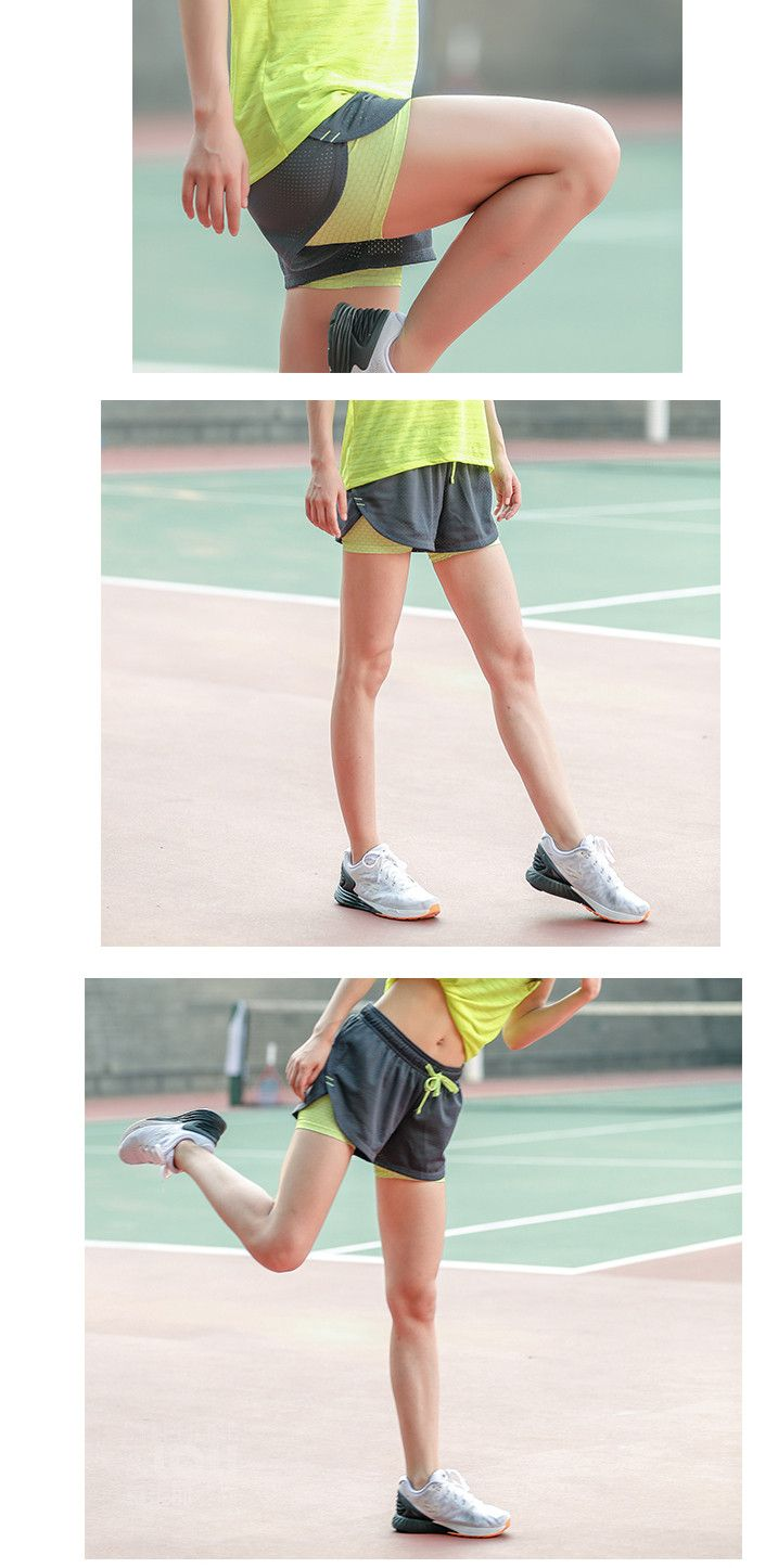 22.54 - Awesome Womens Running Shorts 2 In 1 Running Tights Short Women s  Gym Cool Woman Sport Short Fitness Ladies Running Shorts Sportswear - Buy  it Now! f53c201967