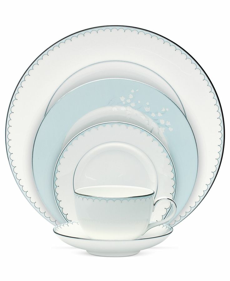 Monique Lhuillier Waterford Dinnerware Lily of the Valley Blue Collection - Fine China - Dining  sc 1 st  Pinterest & 488 best China Patterns images on Pinterest | Dish sets Dishes and ...