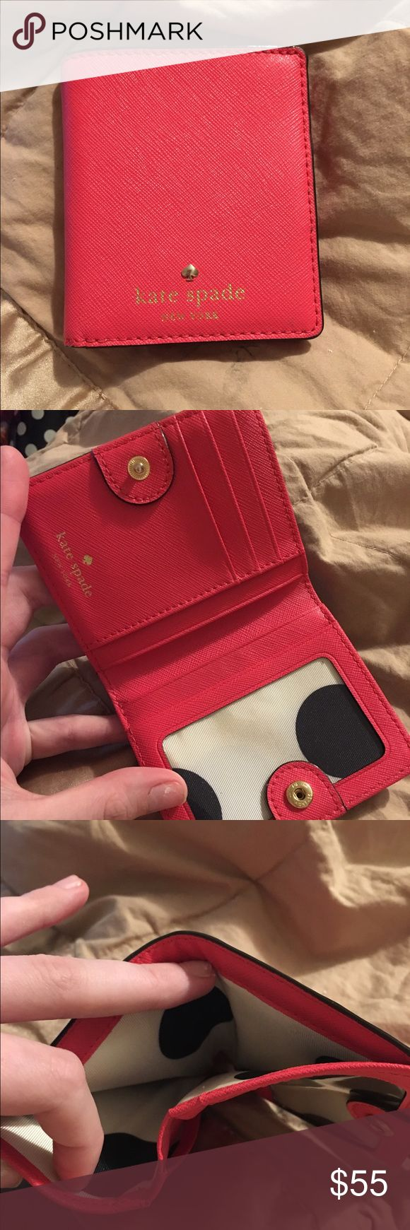 Kate Spade Small Stacy Wallet literally PERFECT condition. only used for two days when i went to Disney and i only used it to carry my pass card, my debit and my hotel key so it's not stretched out by any means. kate spade Accessories Key & Card Holders