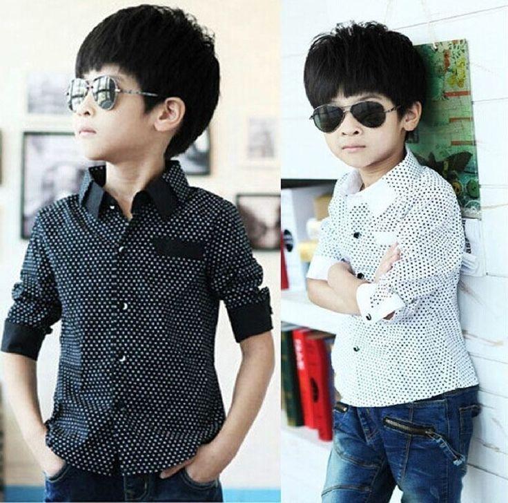 $4.50 (Buy here: https://alitems.com/g/1e8d114494ebda23ff8b16525dc3e8/?i=5&ulp=https%3A%2F%2Fwww.aliexpress.com%2Fitem%2FFashion-Kids-Boys-Formal-Shirt-Plain-Long-Sleeved-Polka-Dot-Lapel-Party-Shirt%2F32748400375.html ) Fashion Kids Boys Formal Shirt Plain Long Sleeved Polka Dot Lapel Party Shirt for just $4.50