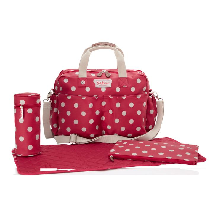 Changing Bags | Button Spot Double Pocket Nappy Bag | Cath Kidston. £95 - wonder if can get this cheaper? seems very pricey!