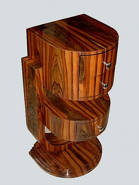 Image detail for -Delta Co NY ART DECO Nightstand Antique French Lamp Table