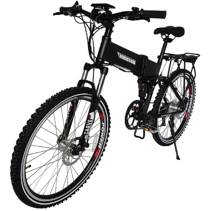 X-Treme Baja 36 Volt Lithium Powered Electric Folding Mountain Bike Bicycle Blk