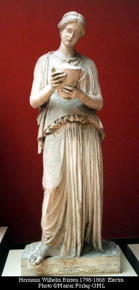 Electra. En la mitología griega, Electra (en griego antiguo Ἠλέκτρα Êléktra) o Laódice era, de acuerdo con la narración homérica, una Atrida —descendiente del rey Atreo— hija de Agamenón y Clitemnestra.