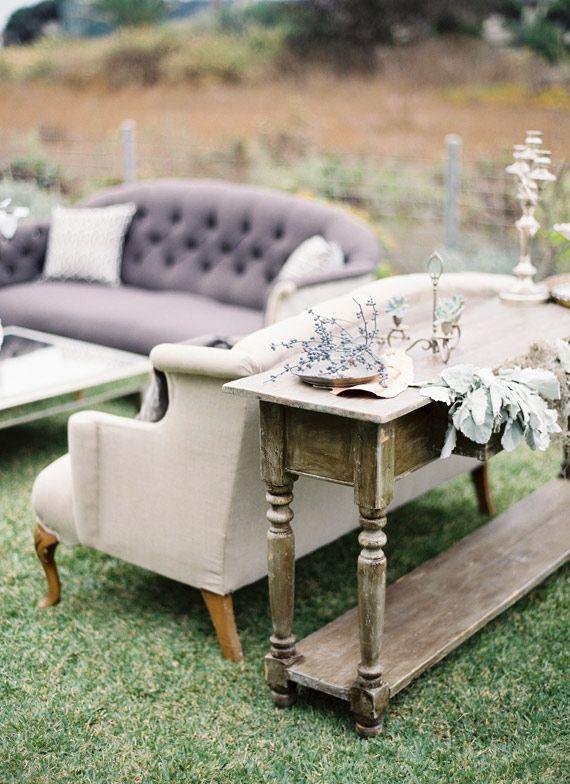 vintage lounge furniture | Photo by Jose Villa
