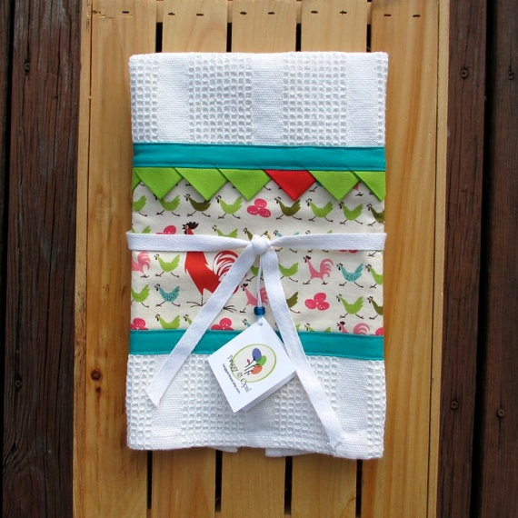 Red Kitchen Hand Towels: Kitchen Towel, Lime Green, Teal Hand Towel, Rooster And