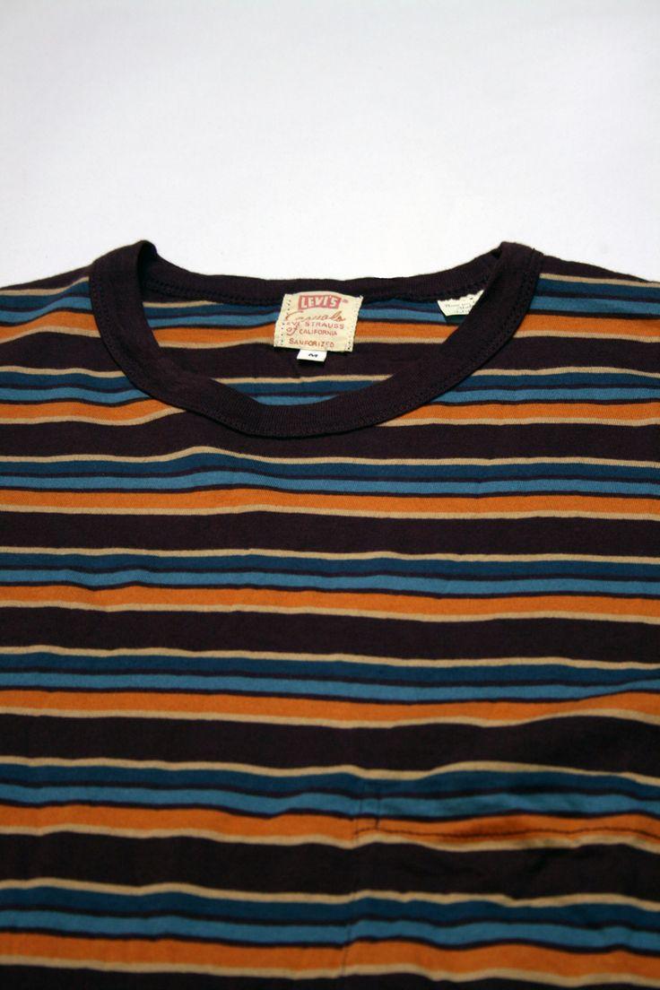 Levi's Vintage Clothing 1960s Striped Tee – Burgundy