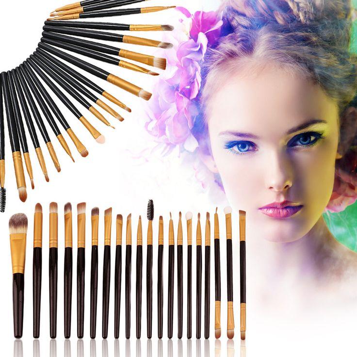 20st make-up kwasten Set Pro Powder Blush Foundation Oogschaduw Eyeliner Lip Cosmetische Brush Kit Beauty Tools door ModernaModaTreasures op Etsy