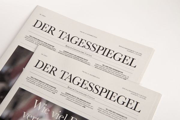 Der Tagesspiegel by Paul Leichtfried, via Behance