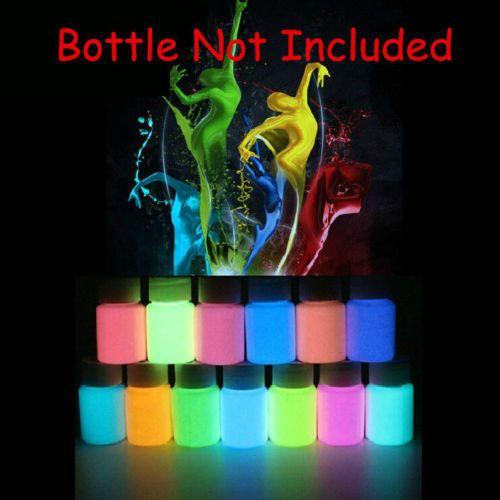 Sparkle Fluorescent Neon Luminous Nail Art Polish Glow In Dark Varnish Powder #Unbranded