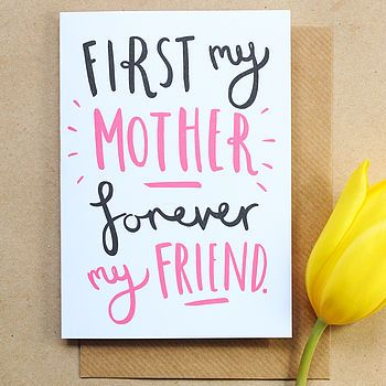 First My Mother - Forever My Friend. Cute Mother's Day card. #PANDORAloves